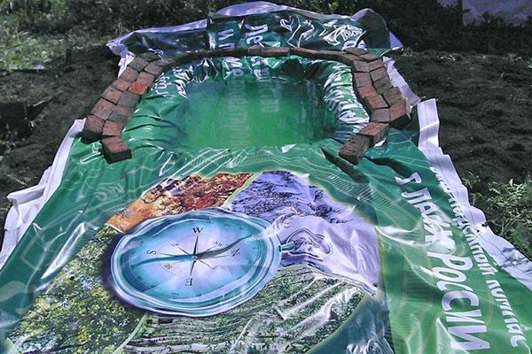бассейн из баннерной ткани