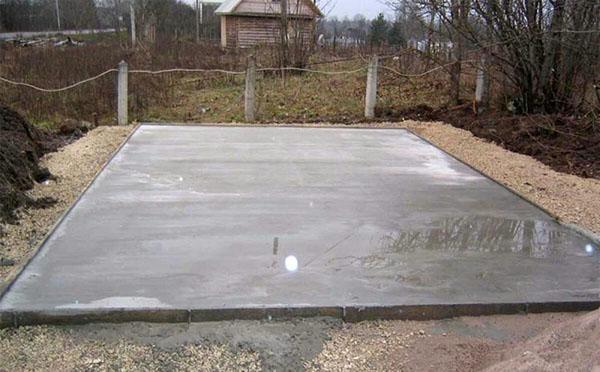 бетонная площадка под беседку из поликарбоната