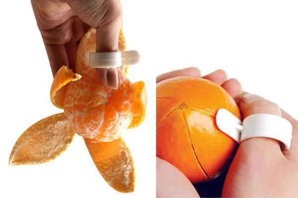 чистим мандарин быстро и легко