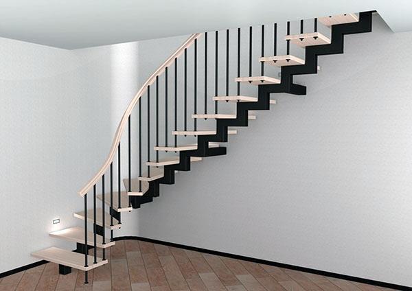 открытая конструкция лестницы
