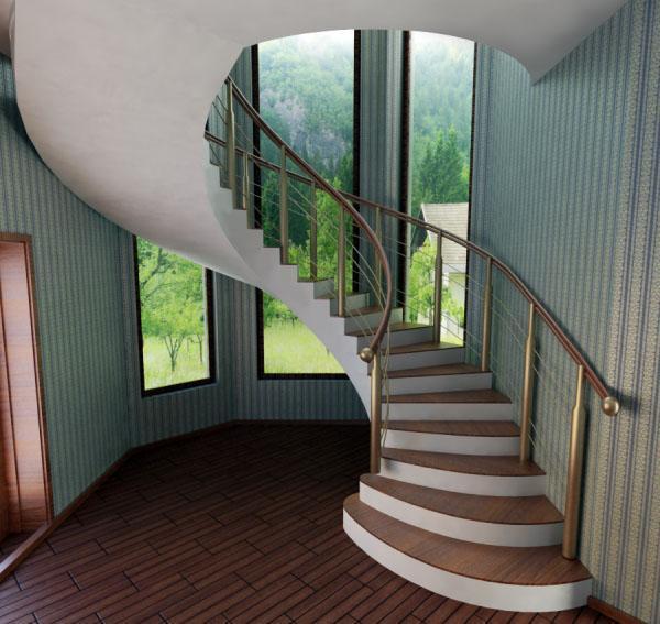 изящная лестница из бетона