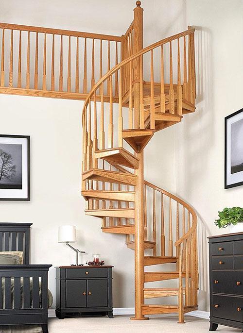 винтовая конструкция лестницы