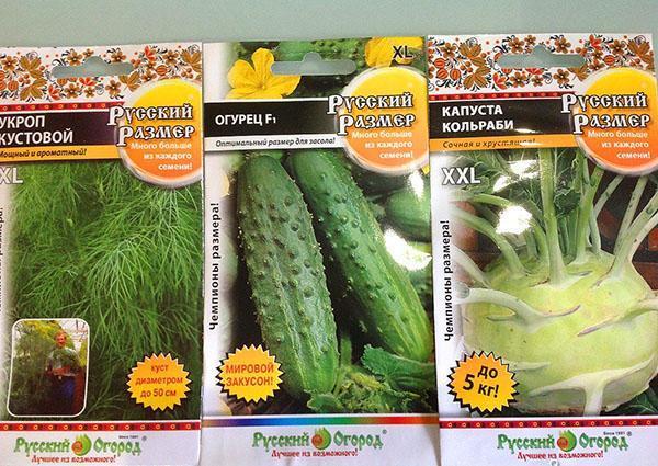 семена русский размер
