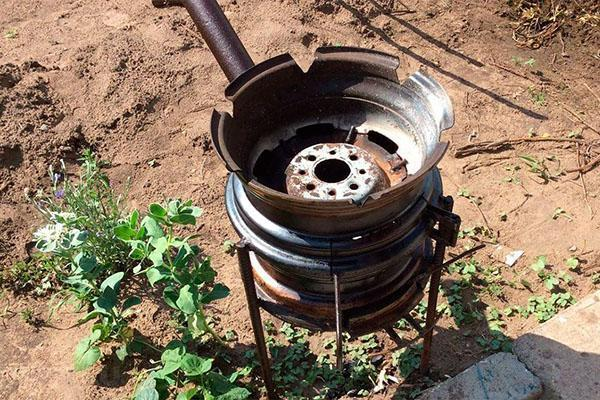 Мангал из дисков автомобиля – компактное решение для пикника. Мангал для барбекю из автомобильного диска