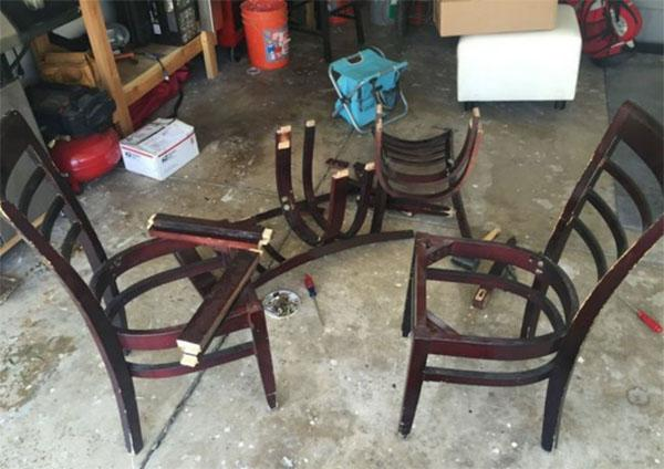 подготовка старых стульев к преображению