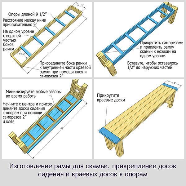 порядок сборки скамейки
