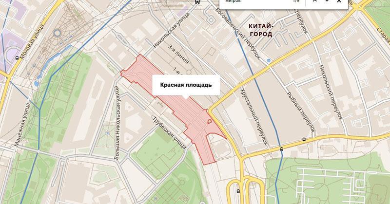 размер Красной Площади