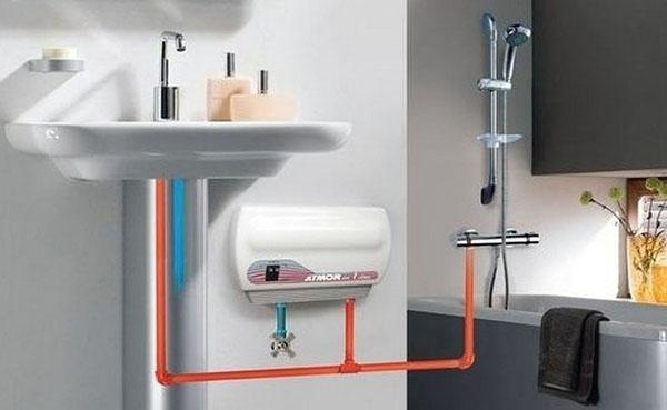 проточный напорный водонагреватель