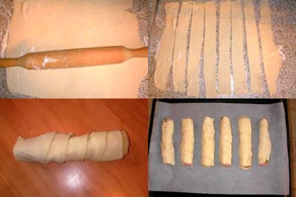 этапы приготовления хот-догов