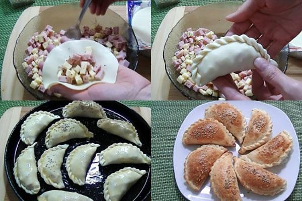 этапы приготовления пирожков
