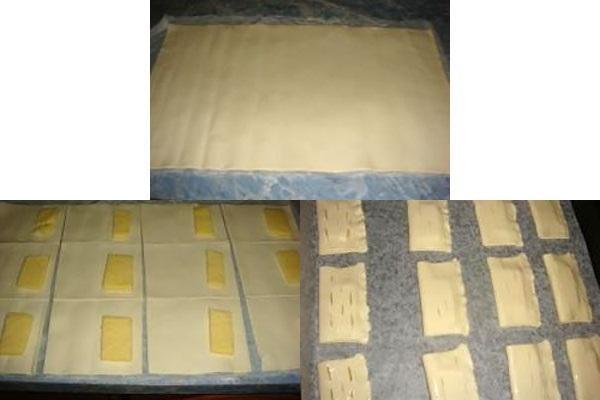 этапы приготовления слоек с сыром
