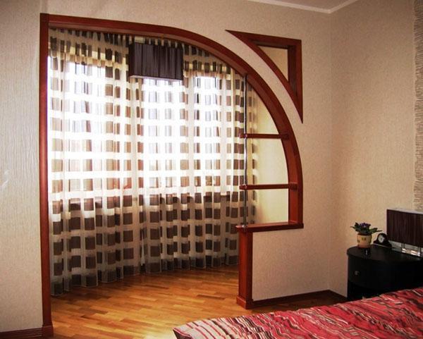 арка сложной формы с полочками