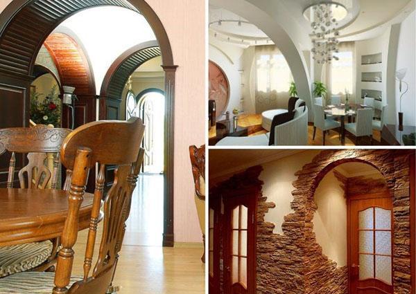 арки в дизайне помещений
