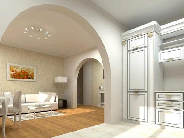 арка для зонирования пространства