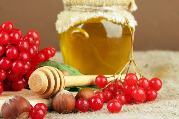 калина и мед для джема