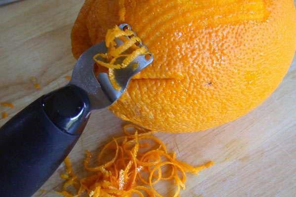 цедру апельсина добавляем в конце