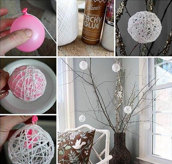 изготовление ажурных шаров для гирлянды