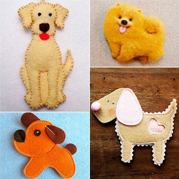 елочные игрушки в виде собачки