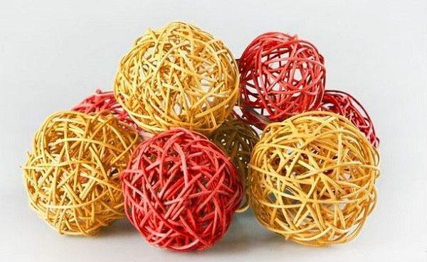 крашеные шары
