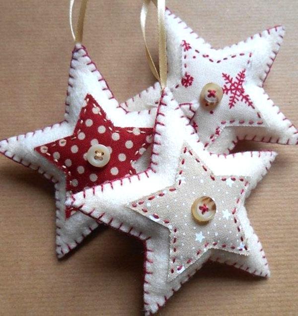 декорированные звезды для елки
