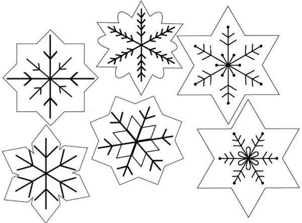 варианты снежинок из фетра