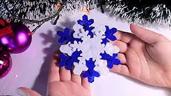 многослойные снежинки