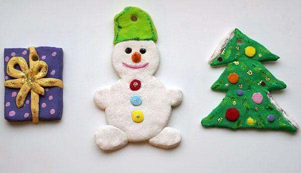 Елочные игрушки из теста своими руками фото 525