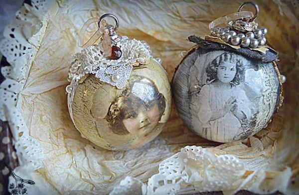 декорированные шары из пенопласта
