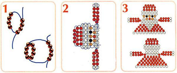 схема плетения деда мороза
