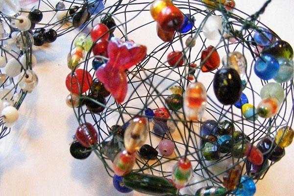 прозрачный шарик из бисера