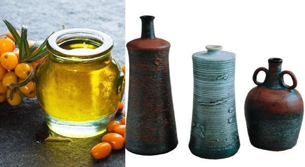 хранение облепихового масла в стеклянной и керамической посуде