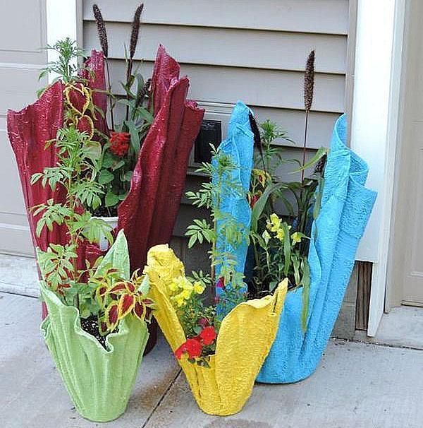 ажурные вазоны для цветов из бетона