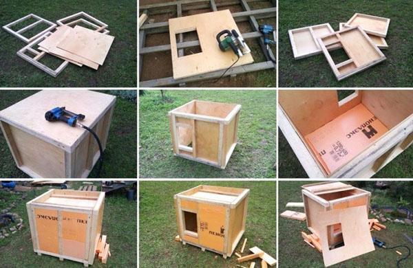 этапы изготовления будки