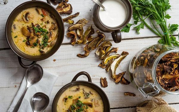 грибной суп из сушенных грибов
