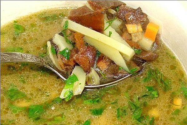 простой суп из замороженных грибов