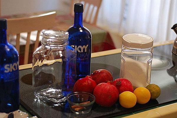 ингредиенты для приготовления настойки на гранате