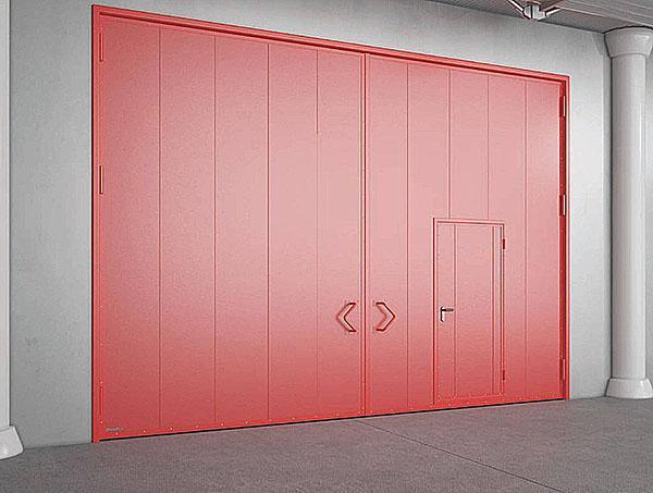 простая конструкция гаражных ворот