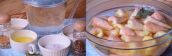 приготовить маринад и залить голубцы