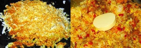 обжарить панир и добавить с моркови