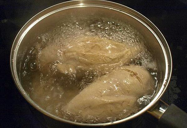 отварить куриное филе