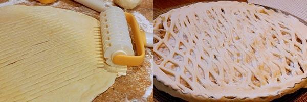 покрыть пирог тестом