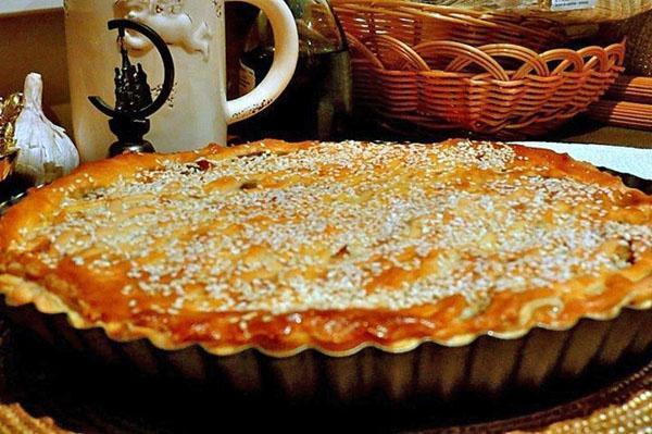 пирог с грибами и курицей