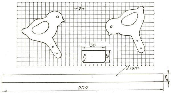 чертеж игрушки из дерева