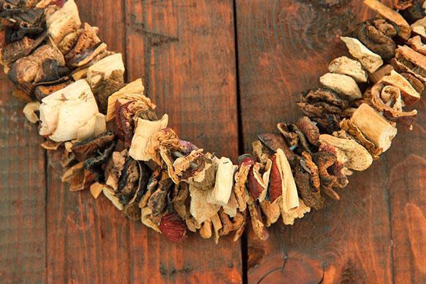 сушеные грибы для приготовления каш, супов