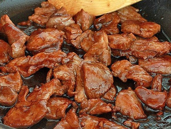 прожарить мясо