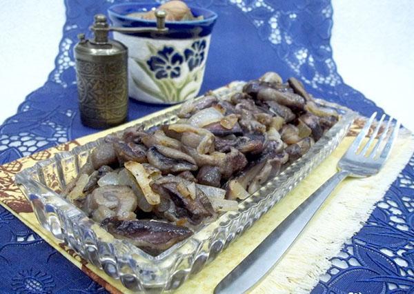 жареные замороженные грибы