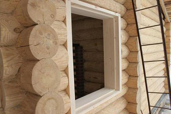 короб окна из дерева