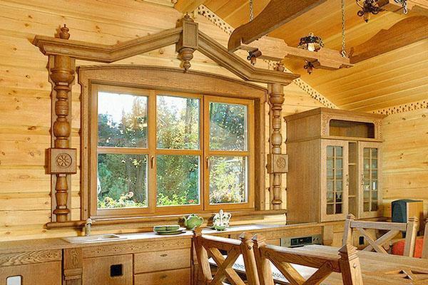 деревянные окна в дизайне помещений