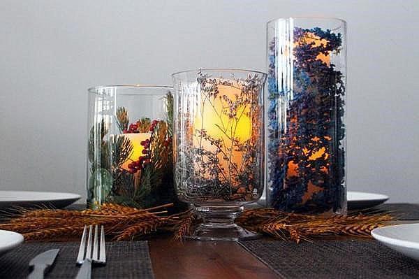 свеча в бокале