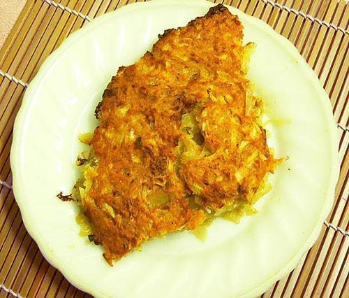картофельная запеканка с лососевым фаршем